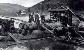 Barco que transporta o vinho